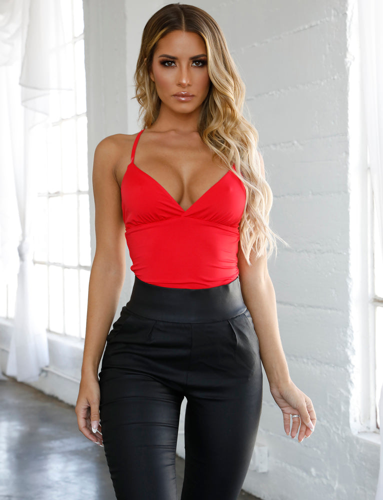 Amber Bodysuit - Red