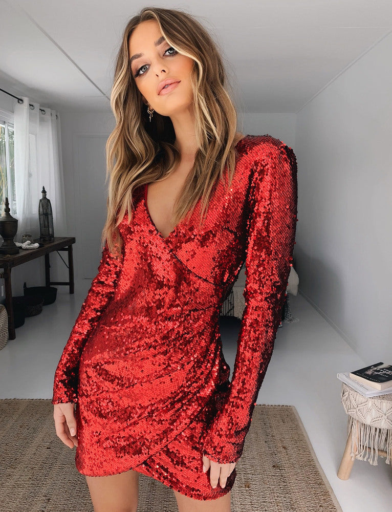 Flores Dress - Red