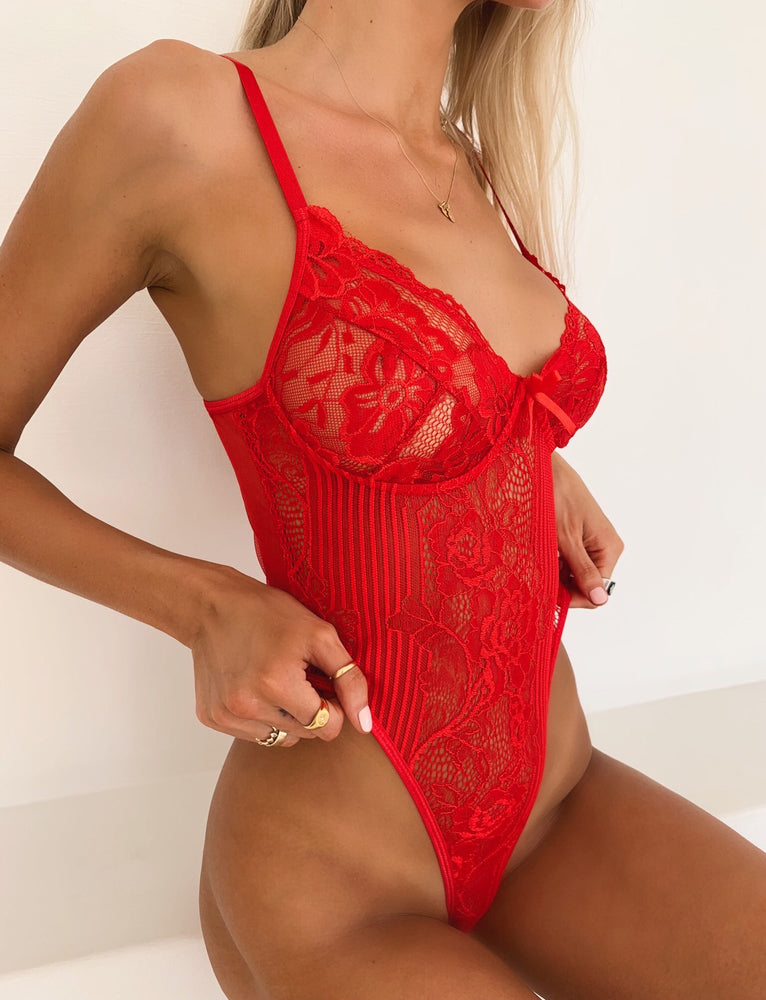 Danika Bodysuit - Red