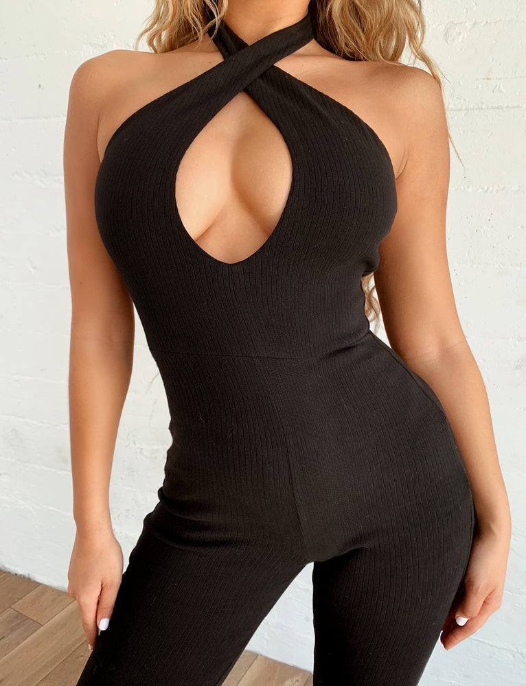 Hero Jumpsuit - Black Rib
