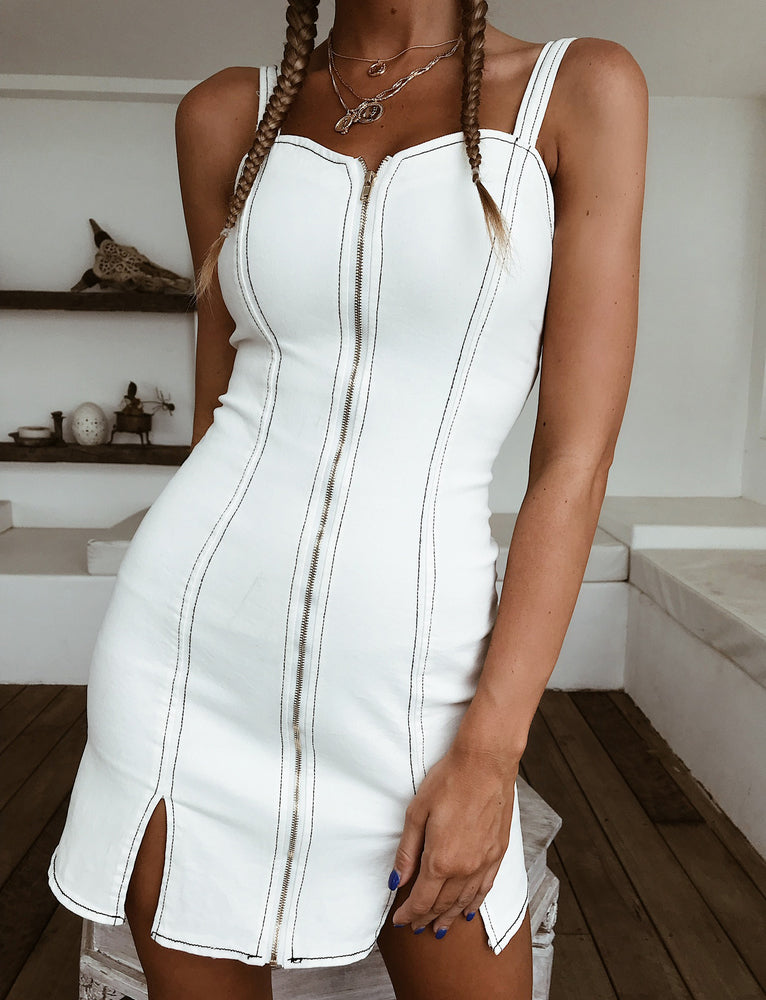 Novella Mini Dress - White