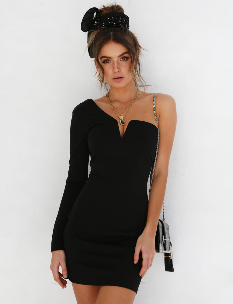 Quinn Long Sleeve Dress - Black