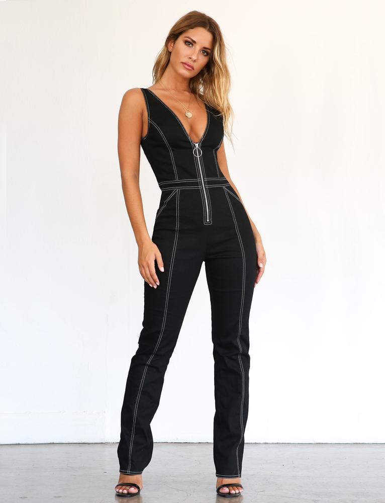 Ava Jumpsuit - Black
