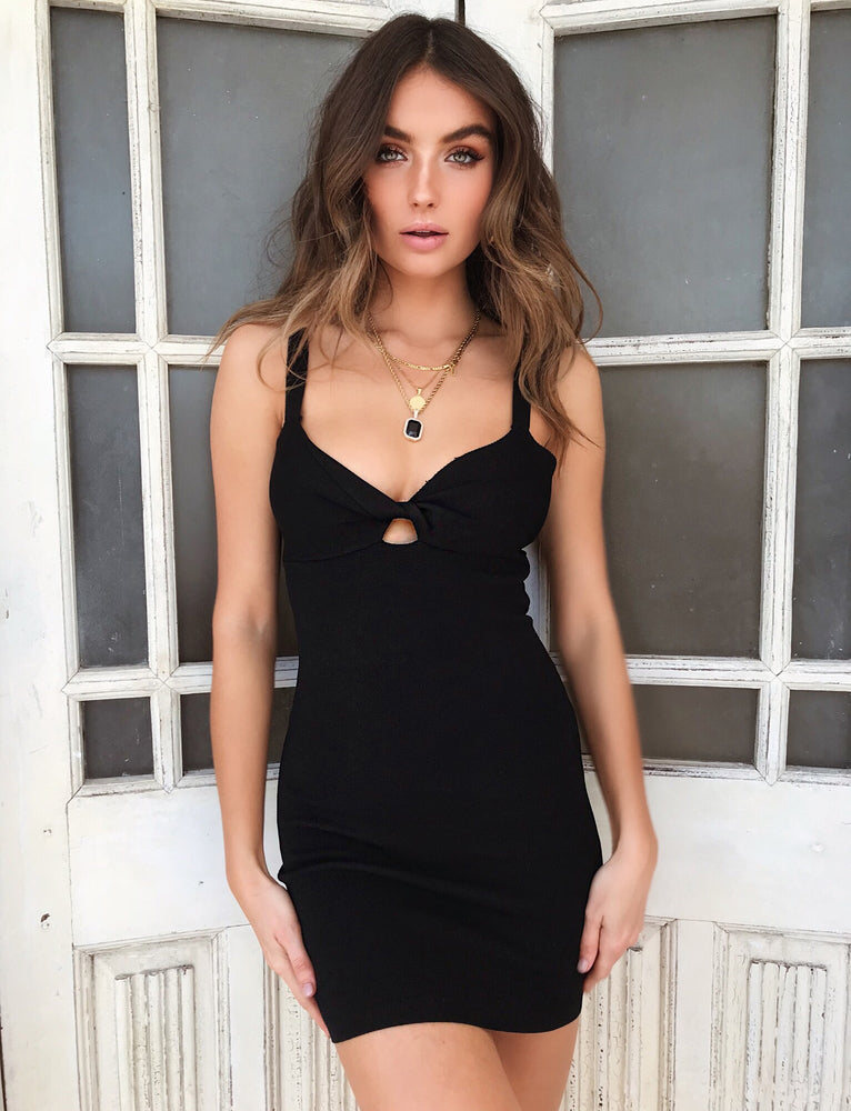 Stevie Mae Mini Dress - Black