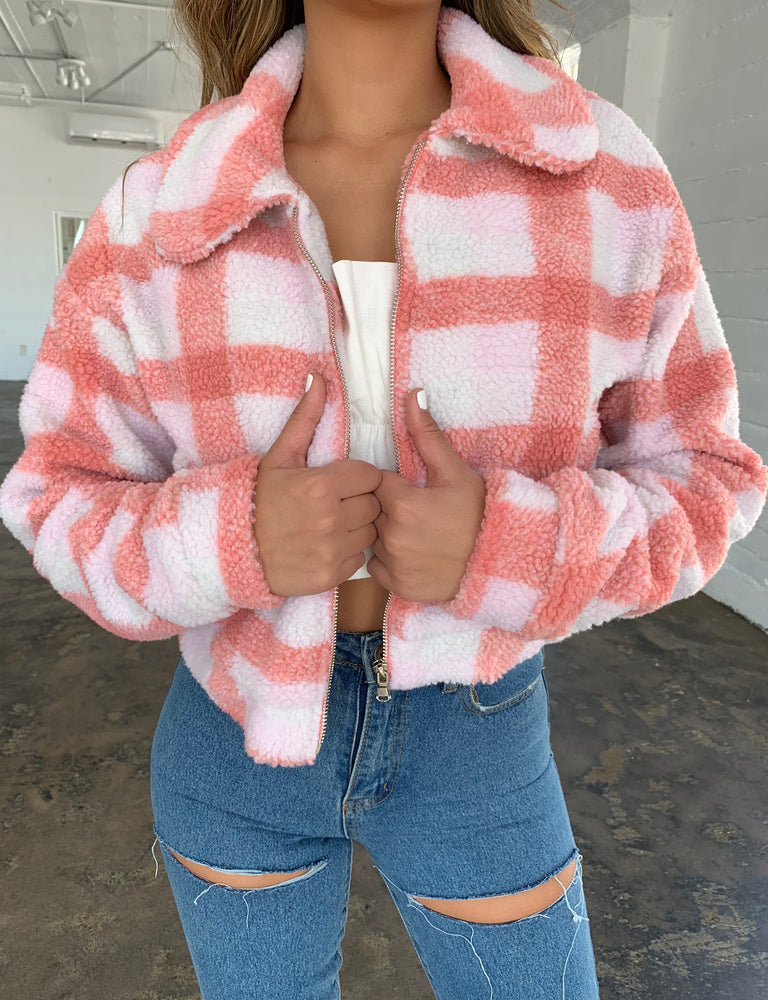 Brooklyn Jacket - Pink Check