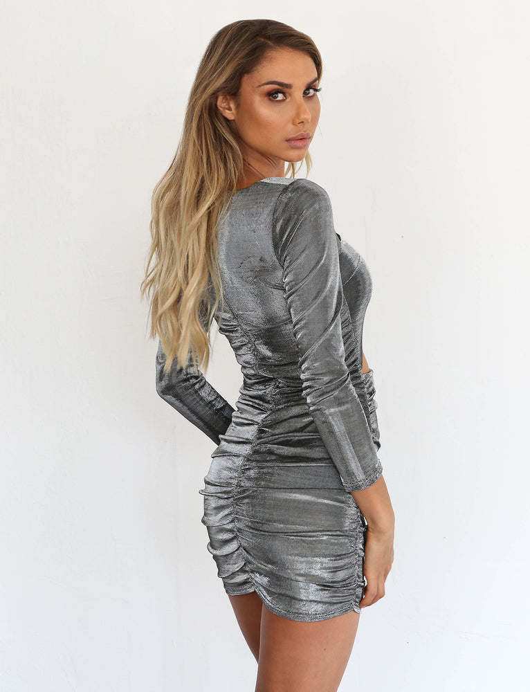 c0e9ddb49002 Buy Our Belle Mini Dress in Silver Online Today! - Tiger Mist