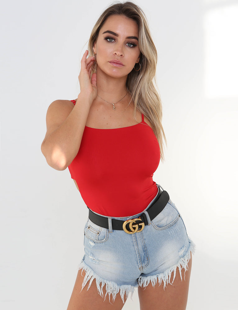 Hannah Bodysuit - Red
