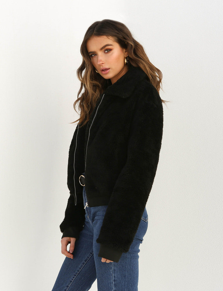 Teddy Jacket - Black