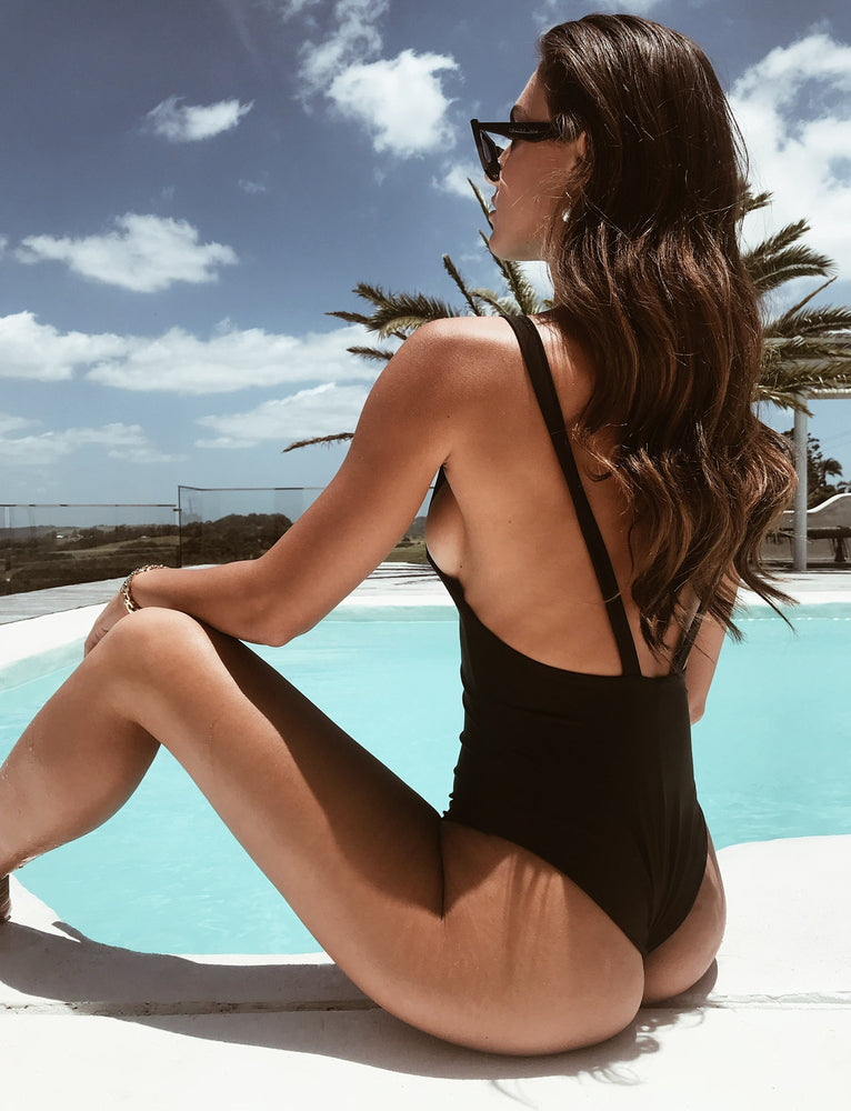 Saffron Bodysuit - Black