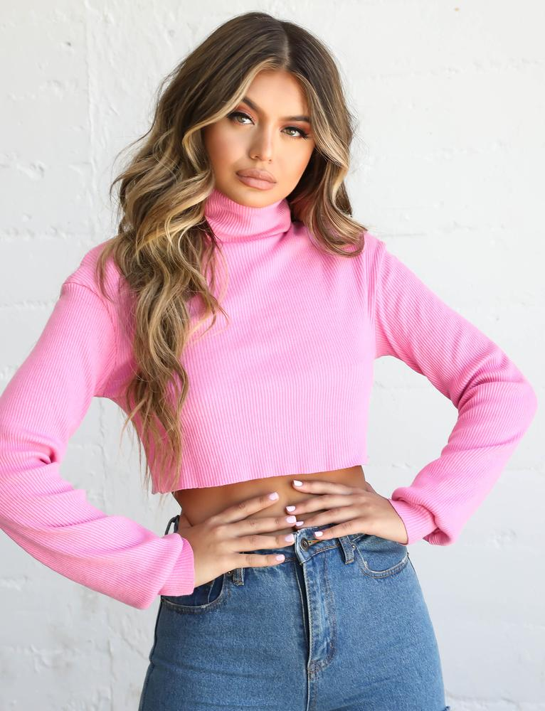 Sugar Turtle Neck - Pink