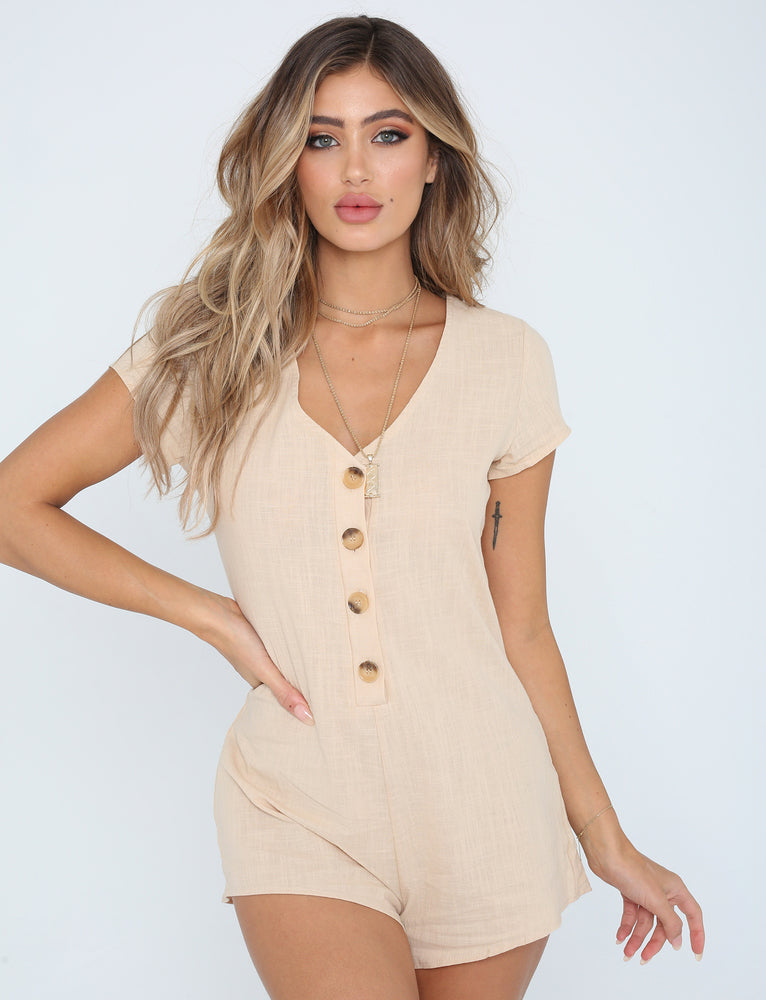 By The Bay Jumpsuit - Beige