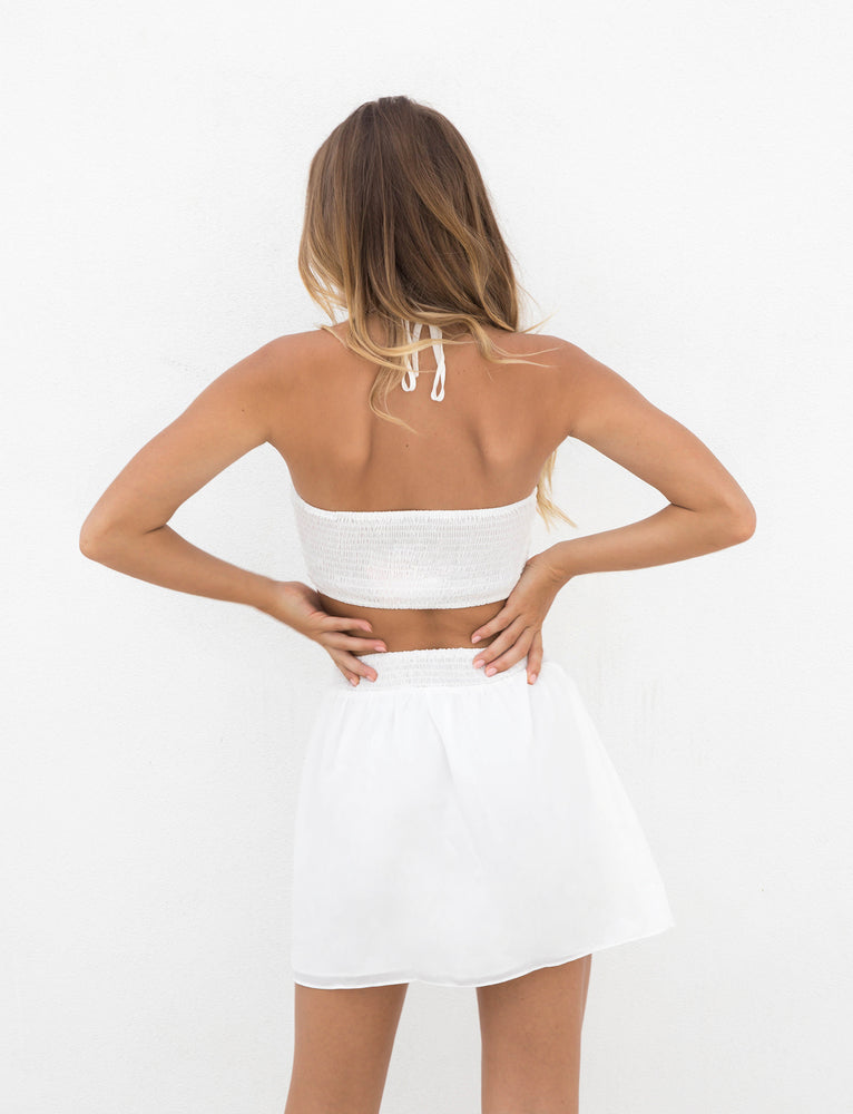 Darcy Crop - White