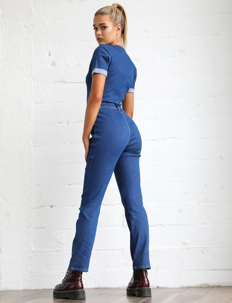 Sofia Jumpsuit - Blue