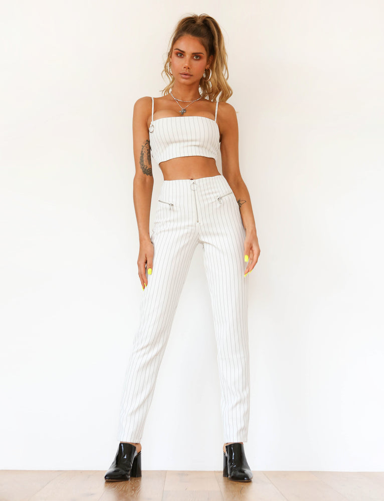 Norah Pant - White/Black