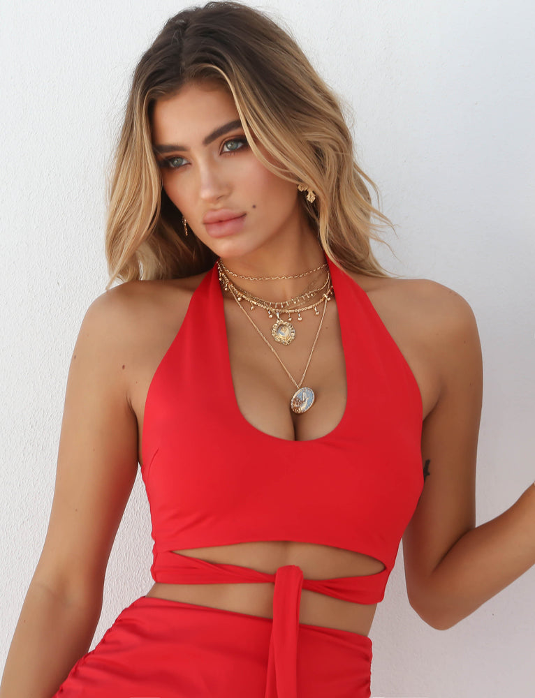 Amazon Crop - Red