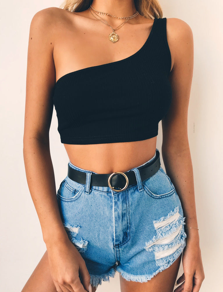 Carmen Crop Top - Black