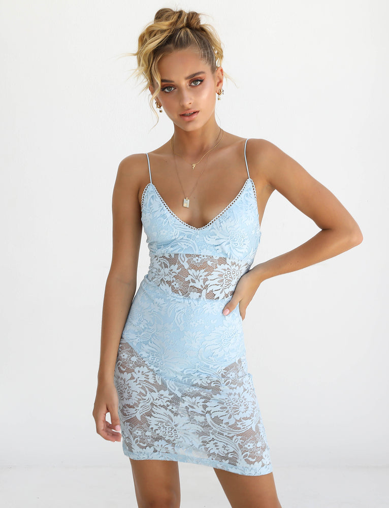 Paisley Dress - Blue