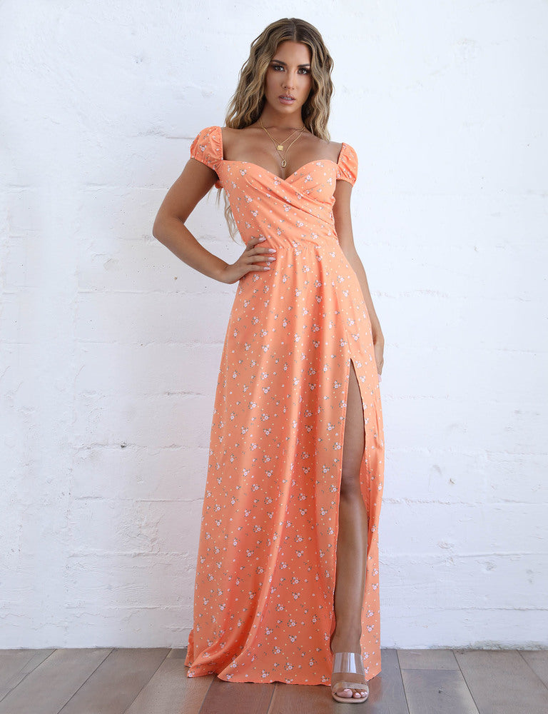 Fiore Dress - Orange