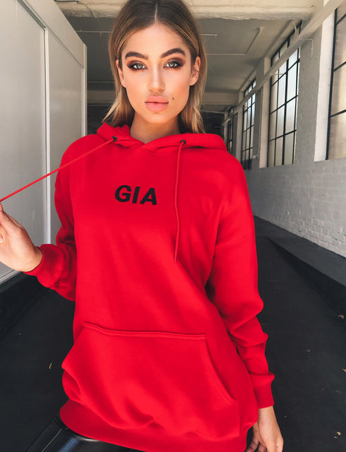 Gia Hoodie - Red