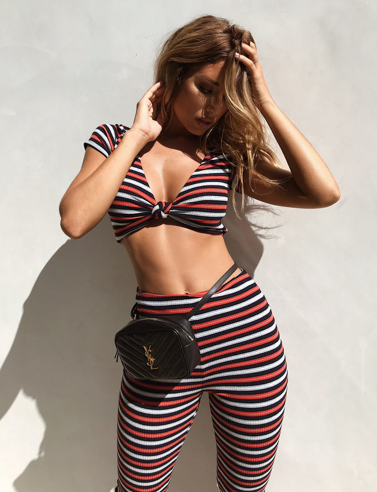 Lulu Top - Blue/Red Stripe