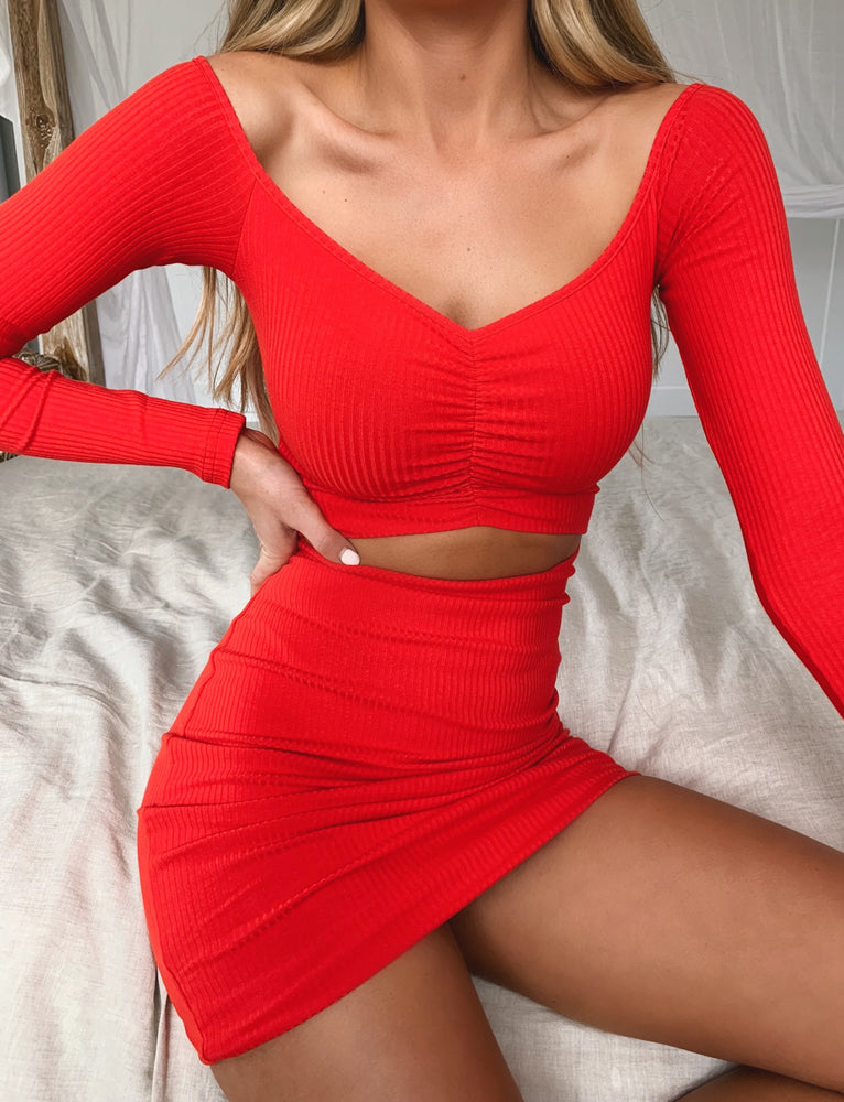 Sweetheart Dress - Red