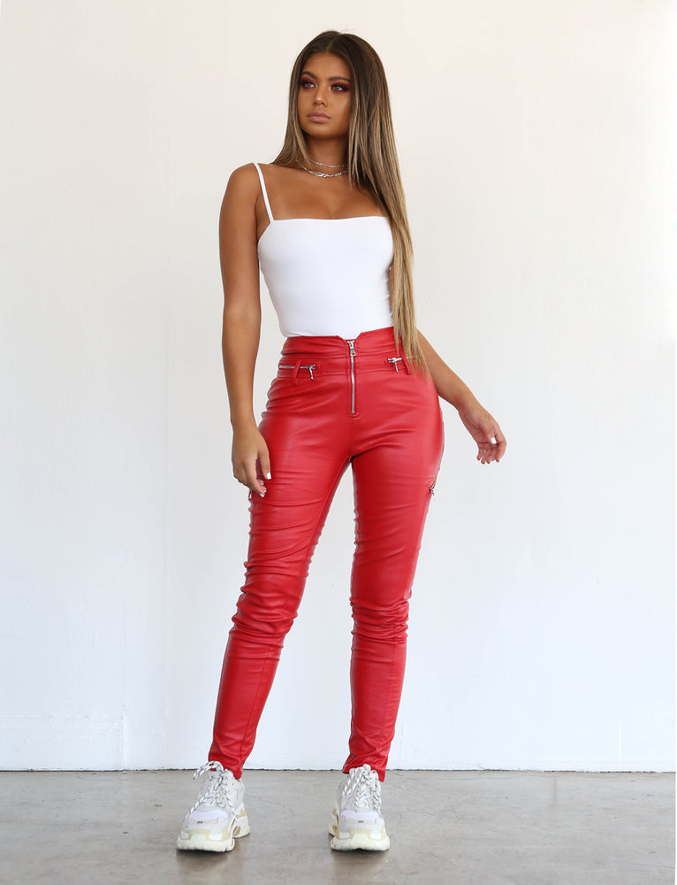 Lennon Pant - Red
