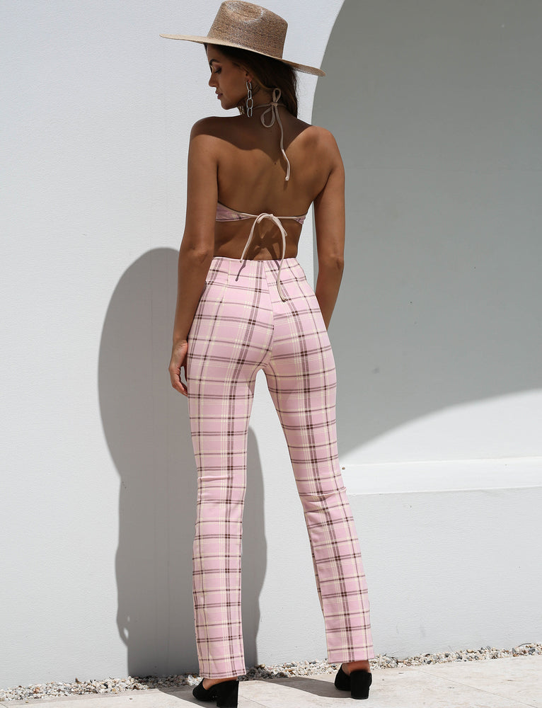 Polaris Pant - Pink Plaid