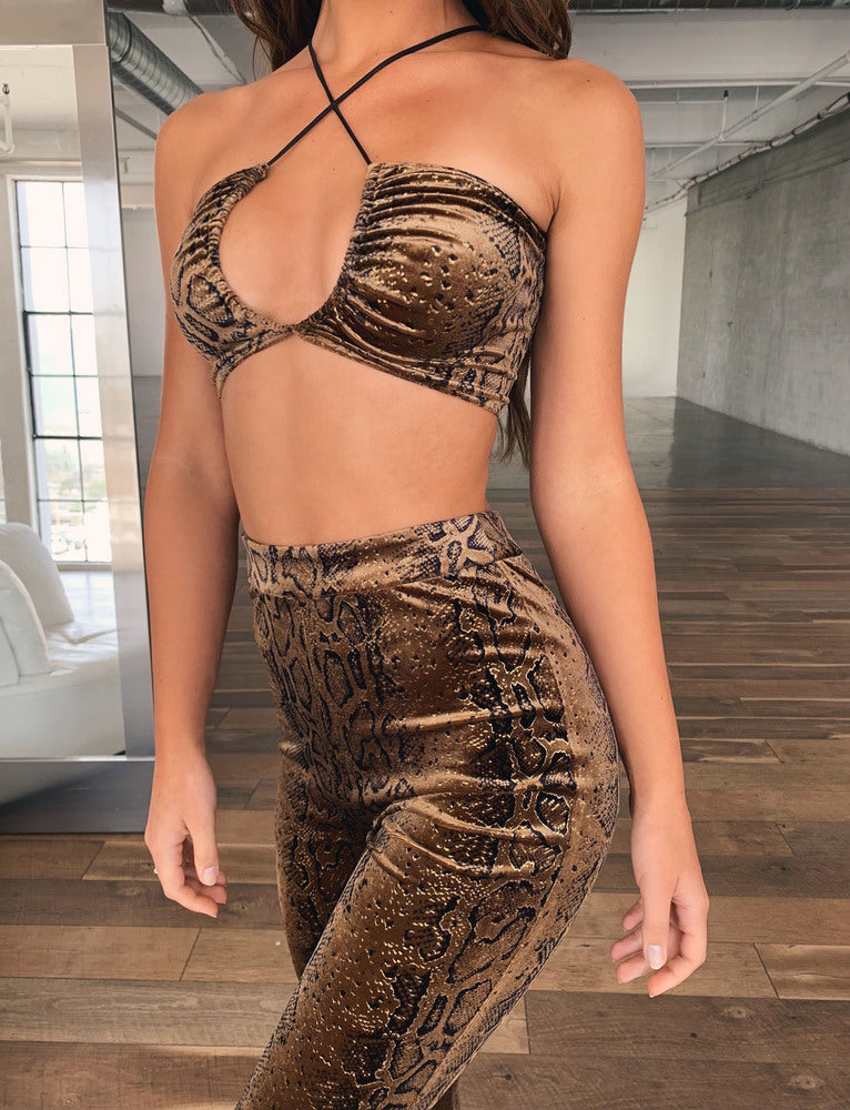 Athena Crop - Brown Snake