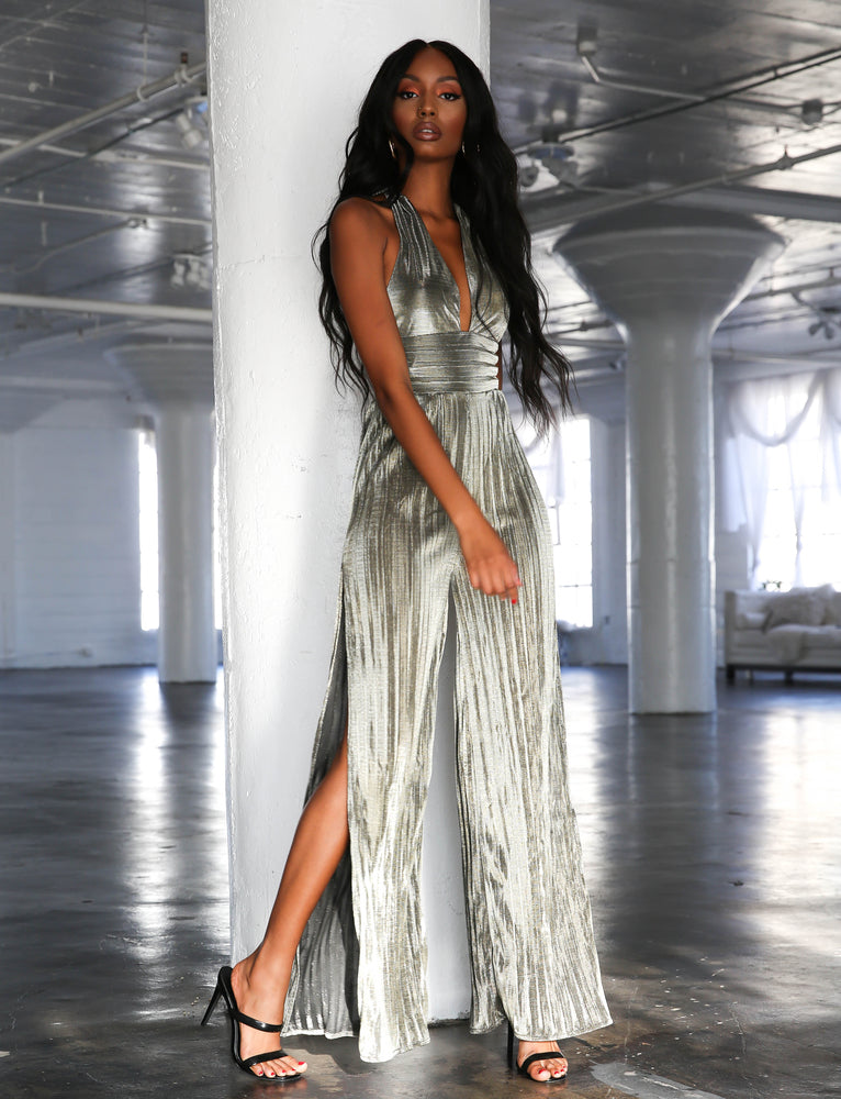 Crystal Jumpsuit - Metallic