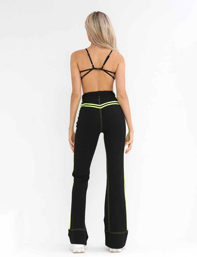 Astrid Pant - Black With Neon