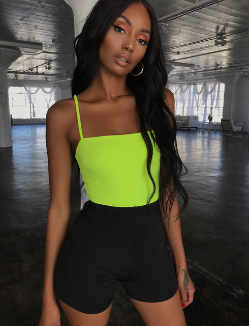 Ridge Bodysuit - Neon Yellow