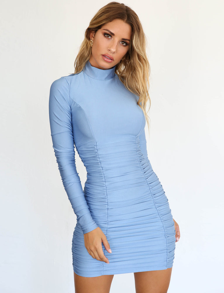 Havana Dress - Baby Blue