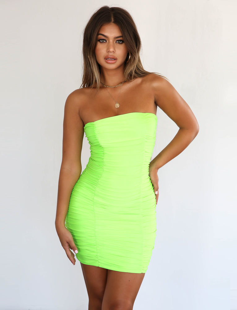 Sansa Dress - Lime Green