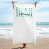 """Blessed to Breathe"" Beach/Bath Towel"