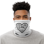 """Heart of 22 Loves"" Neck Gaiter, white, versatile accessory"