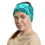 """Heart of 22 Loves"" Headband, Neck Gaiter and Face Mask, Water Background Design, Unisex"