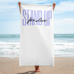 """Stand Up for Love"" Beach/Bath Towel"