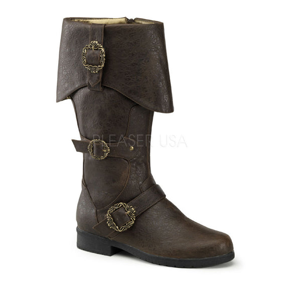 Cuffed Knee Boot W/ Octopus Buckles & Inner Side Zip CARR299/BNPU