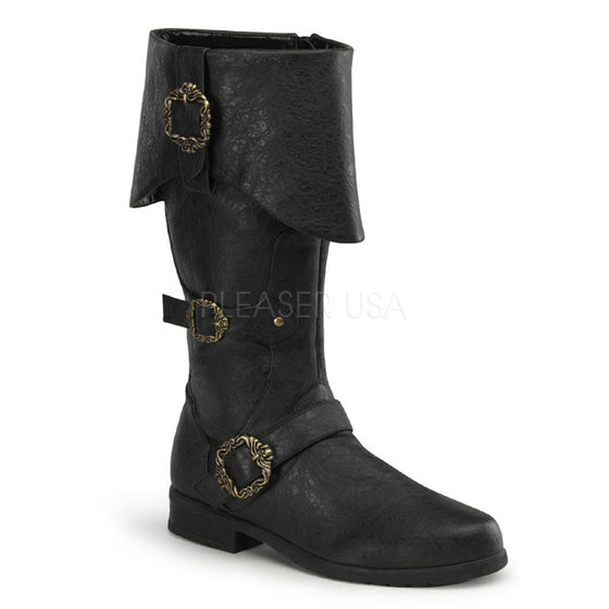 Cuffed Knee Boot W/ Octopus Buckles & Inner Side Zip CARR299/BPU