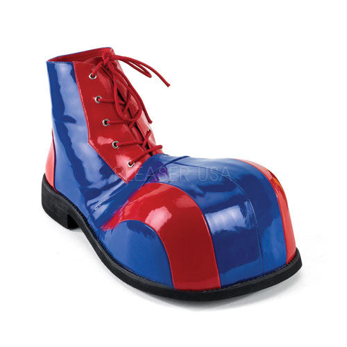 Adult Red-Blue Pat Bump Toe Clown Shoe CLOWN05/RBLU