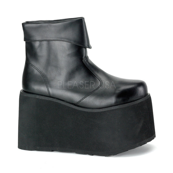 "Monster, Frankenstein Blk Pu PF Inner Zipper Ankle Boot, 5"" MON02/B/PU"