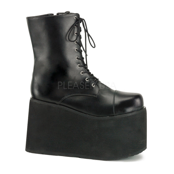 "Monster, Frankenstein Blk Pu Lace Up Front PF Ankle Boot, 5"" MON10/B/PU"