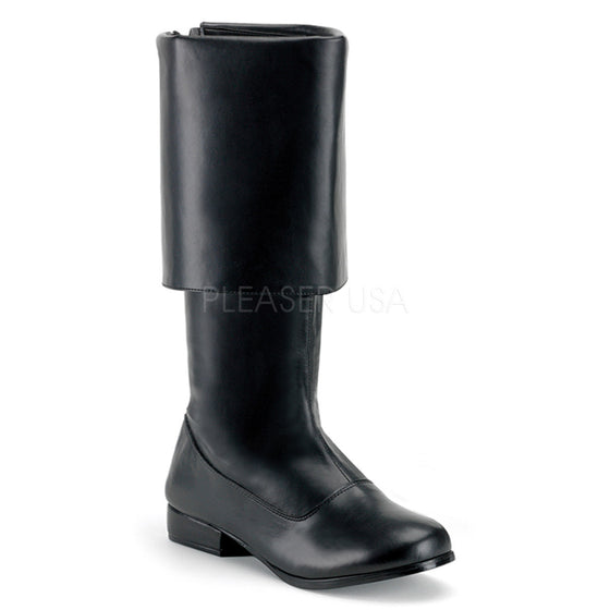 MEN BLK PU PIRATE BOOT with Large Cuff PIR100/B/PU