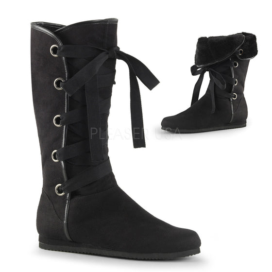 Front Ribbon Strap-Up Mid-Calf Renaissance Boot REN102/BMF