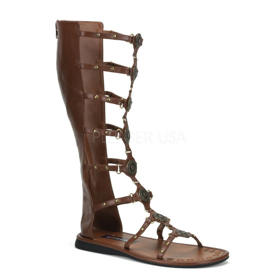 Brown Pu Men's Roman, Gladiator Sandal ROMAN15/BN/PU