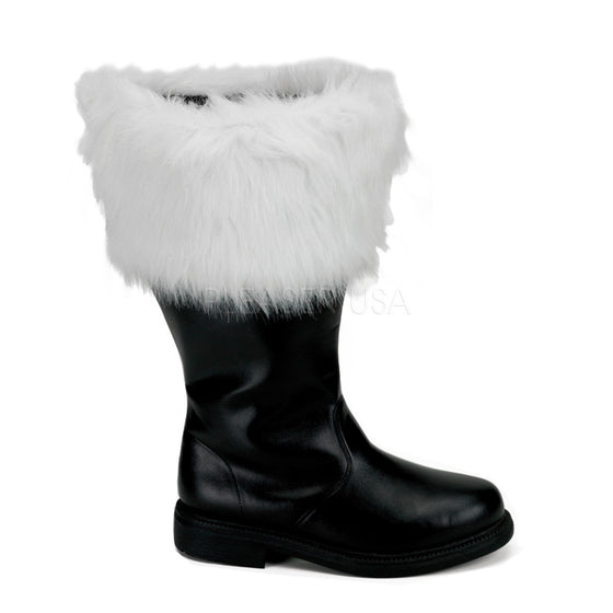 Wide Calf Santa Boots with Fur Cuff SAN106WC/B/PU