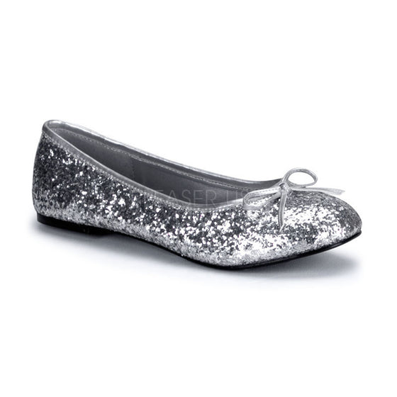 Adult Ballet Glitter Flat with Bow Accent, Fantasy, Fairy STAR16G/S