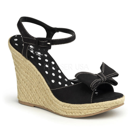 "*4 1/2"" P/F Espadrille Sandal W/Bow Detail At Toe SUM08/B"