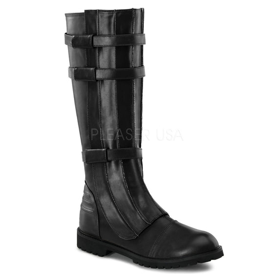 Super Hero Blk Pu Men's Knee Boot WAL130/B/PU