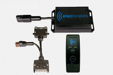 ElecBrake Wireless, Portable Electric Brake Controller + Remote + Plug & Play 7-7 pin flat